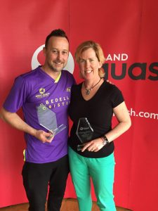orla with Nick Taylor, world champion
