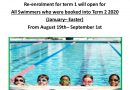 Swimming Lessons Enrollment